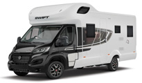 Premier Motorhome Hire: 4 berth with fixed bed (Automatic)