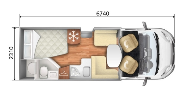 Premier Motorhome : 2-4 berth with fixed bed (Manual)7