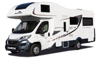Premier Motorhome Hire – 5 Berth with Rear Lounge (Automatic)