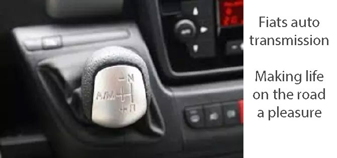 automatic motorhome hire gear lever