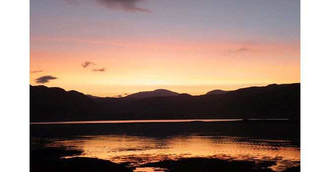 lochcarron at sunrise - north coast 500