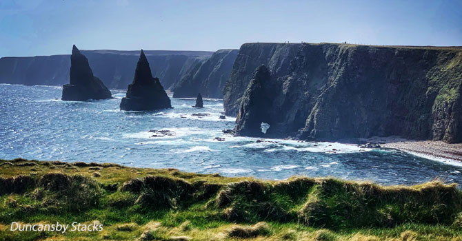 north coast 500 duncansby stacks head
