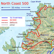 north coast 500 map thumbnail