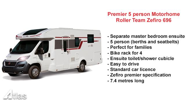 Roller Team Zefiro 696 motorhome for hire