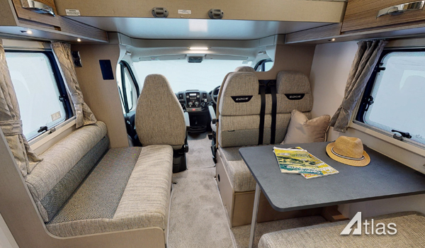 Premier Motorhome Hire: 6 berth with rear beds (Manual)3